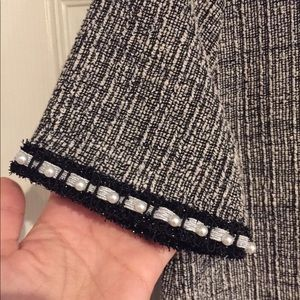 Zara Dresses - SOLD!Textured weave dress with pearl details. NWT!